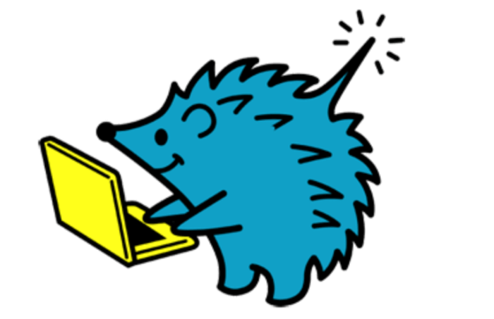 Wi2 300の青いハリネズミキャラクター